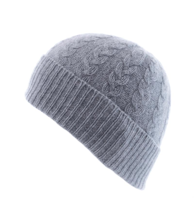 110fg Cable Hat Flannel Grey Fit