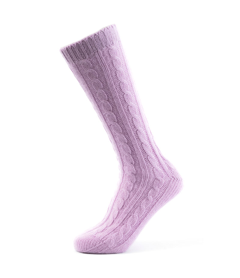 126li Cable Bedsock Lilac Fit