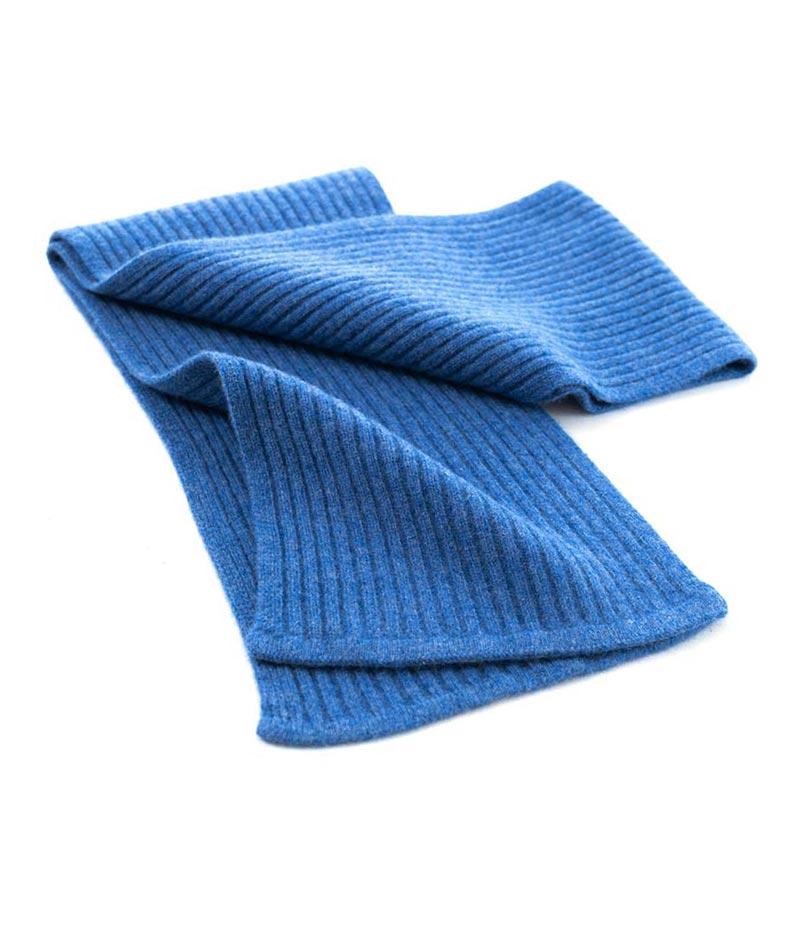 163db Double Rib Scarf Denim Blue