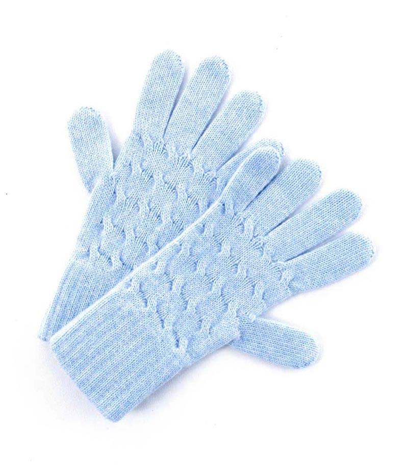 167lb Cashmere Cable Gloves