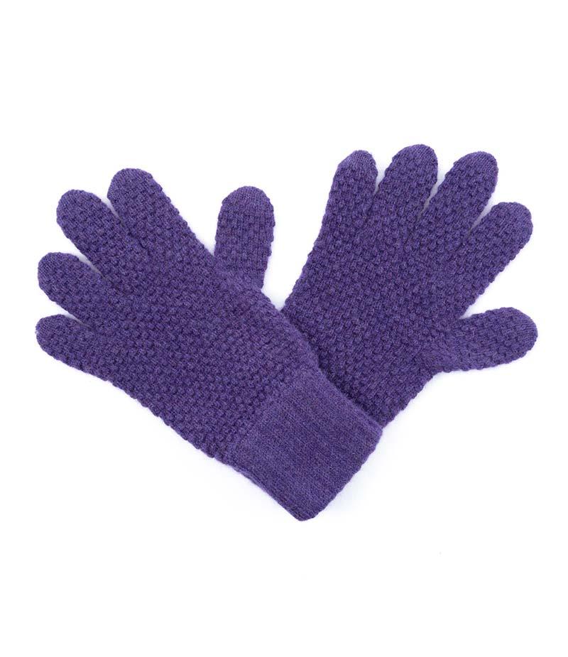 181dp Cashmere Tuck Stitch Gloves