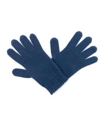 286na Cashmere Rib Cuff Gloves Navy