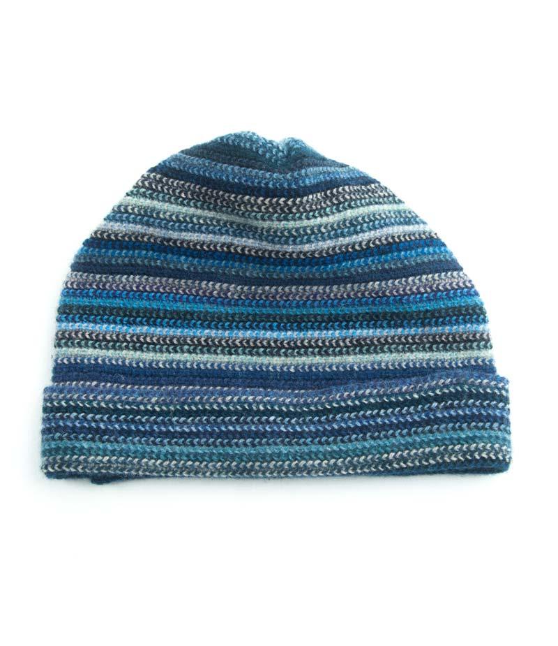 503mbl Lambswool Stripe Beanie Hat