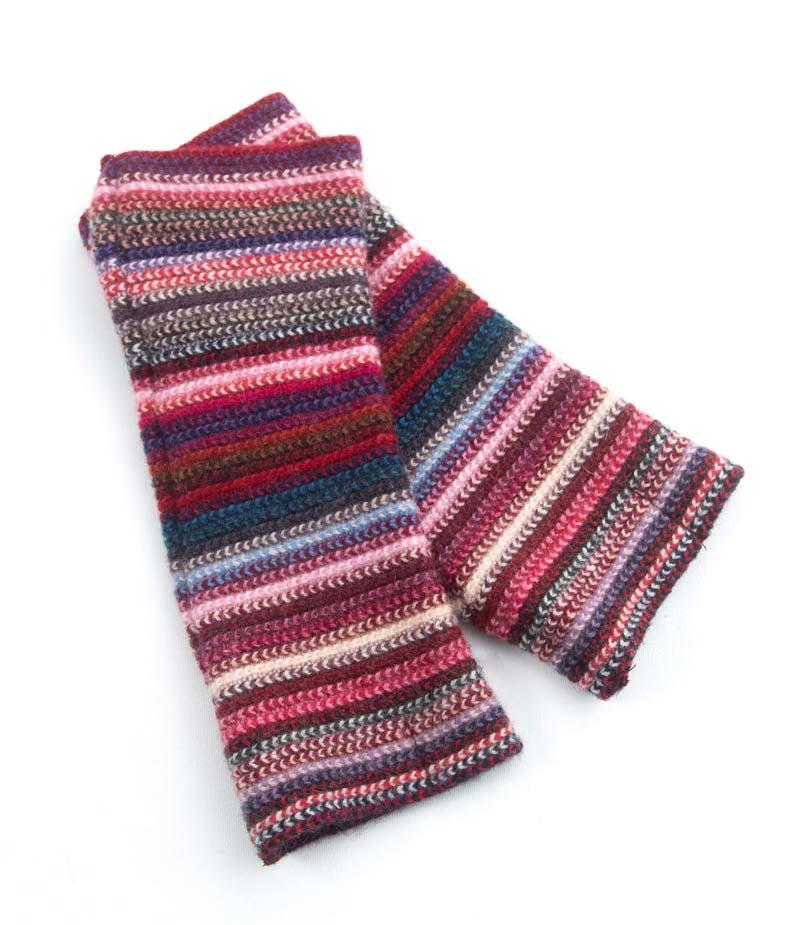 513mr Lambswool Stripe Wristwarmer