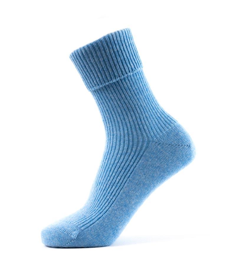 801sb Rib Sock Sky Blue Fit