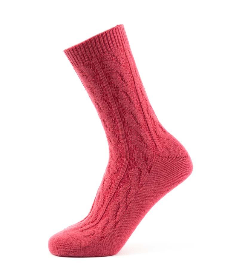 820pr Cable Ankle Sock Protea Fit