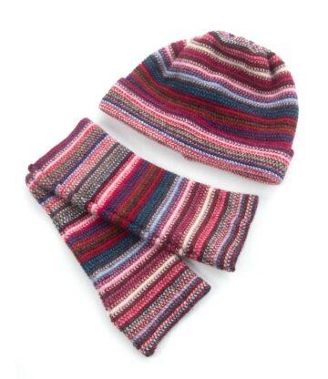Hwmr Lambswool Beanie Hat Wristwarmer