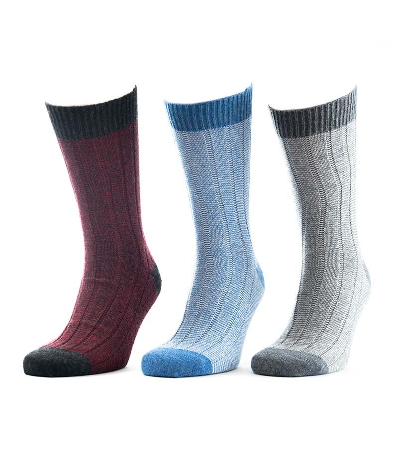 817set Fine Stripe Rib Socks