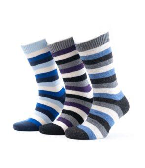 825set Jersey Knit Block Stripe Socks