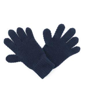 M181na Cashmere Tuck Stitch Gloves