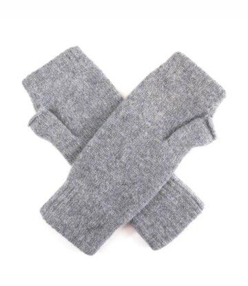 Cashmere Plain Knit Wristwarmers