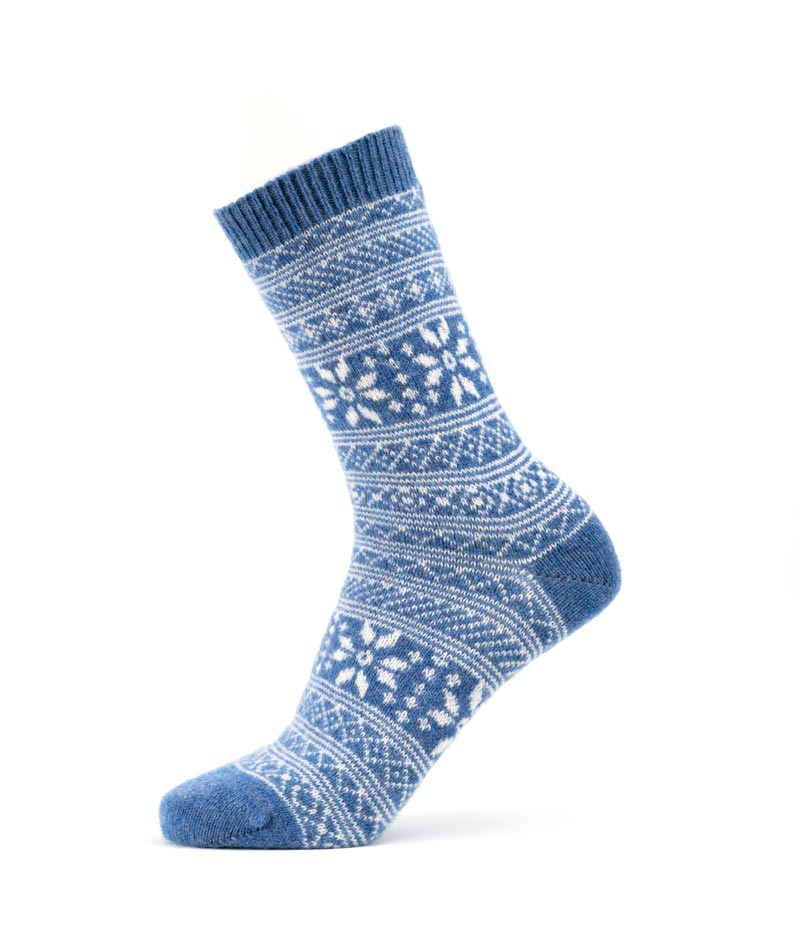Cashmere Snowflake Sock