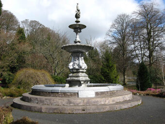 fountain in wilton lodge park geograph.org.uk 754819