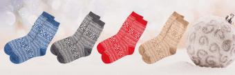 Snowflake Cashmere Socks