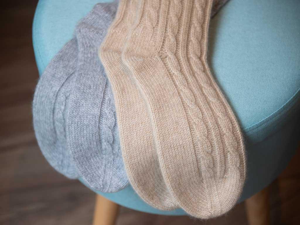 Valentine's Cashmere Bed Socks