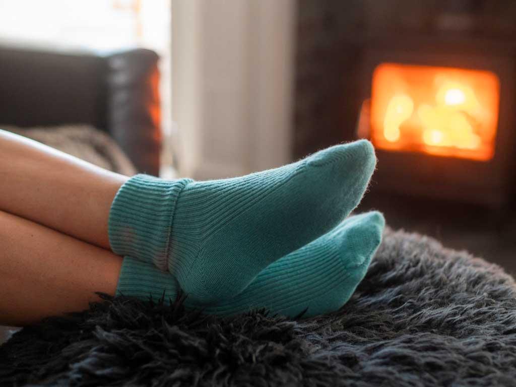 Valentine's Ladies Cashmere Rib Socks