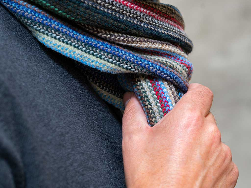 Valentine's Mens and Ladies Lambswool Striped Scarf
