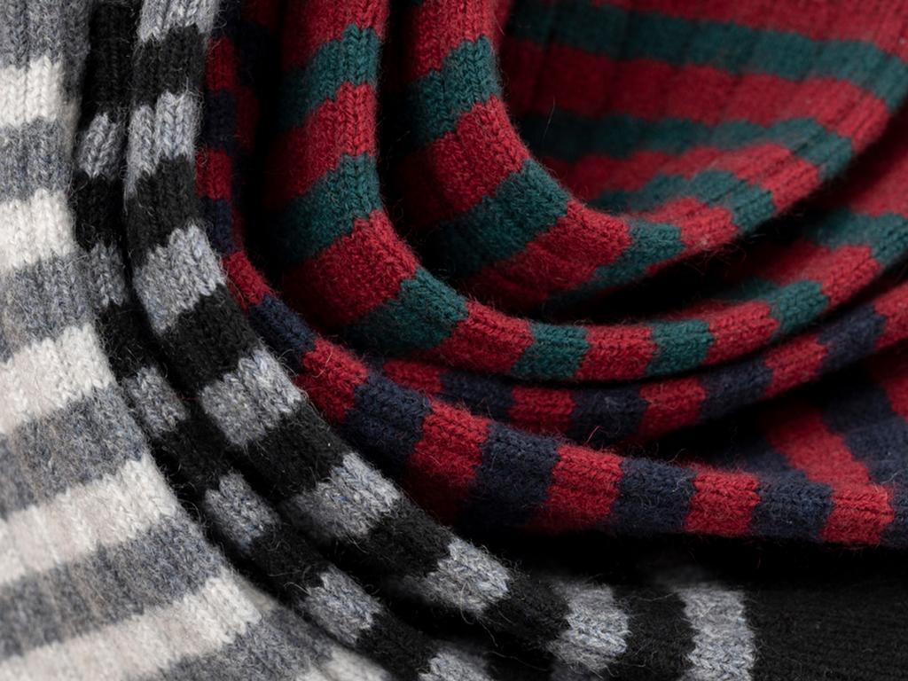 Father's day cashmere block stripe socks in 4 colours