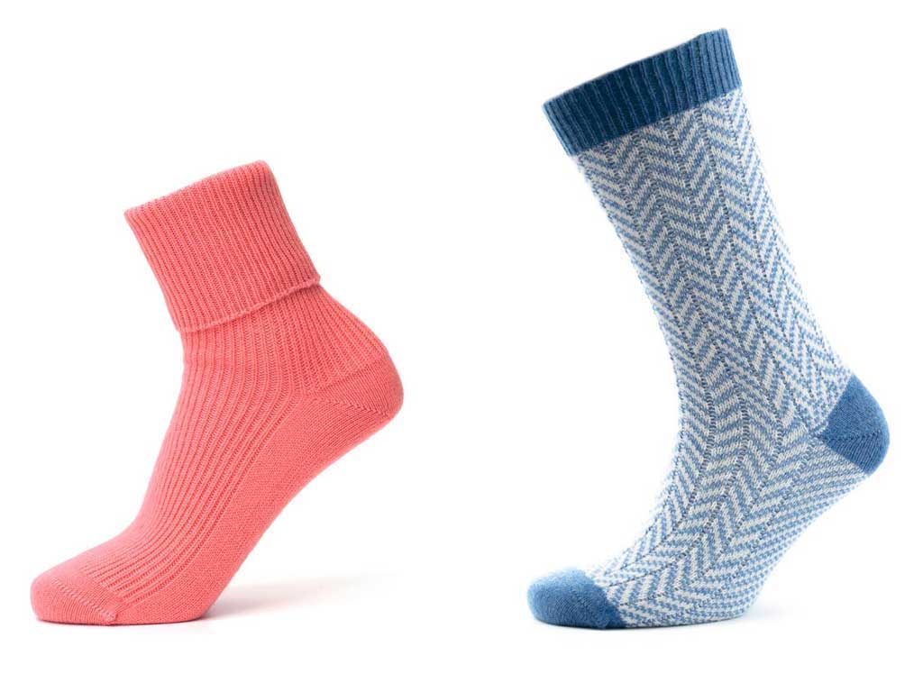 on the go cashmere socks