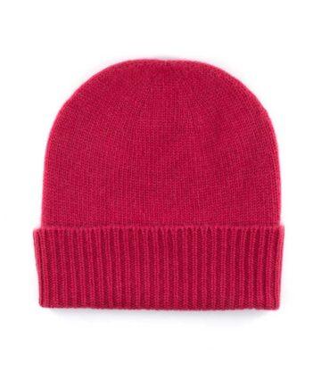 107pt cashmere plain beanie hat