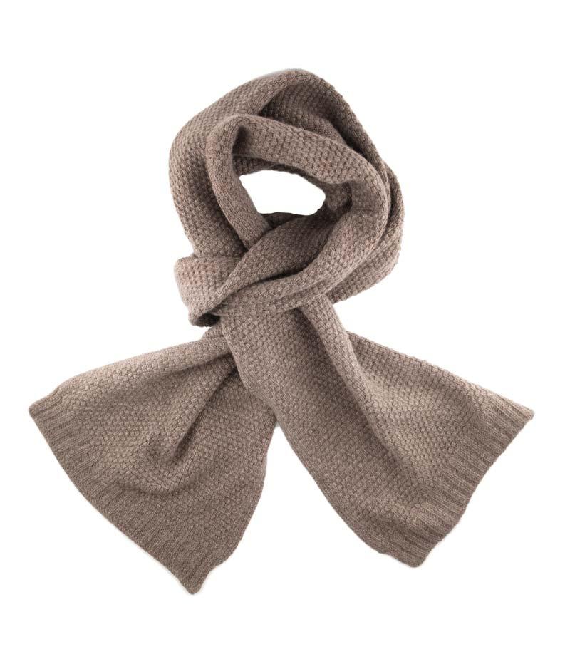 178mo cashmere tuck stitch scarf