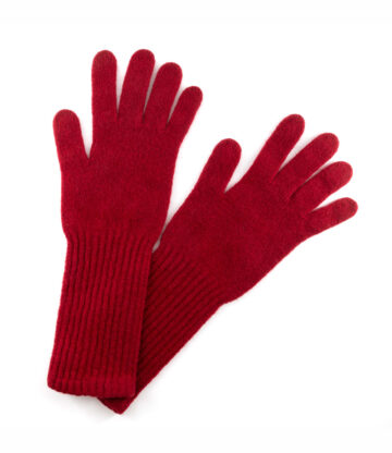 522bar lambswool gloves with longer cuff