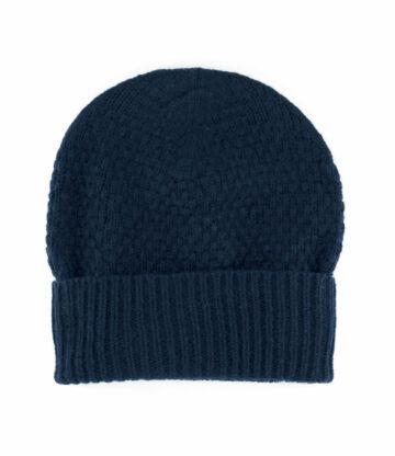 538nv lambswool tuck stitch beanie hat