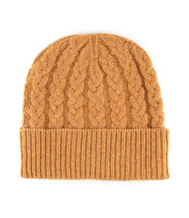 506fi lambswool cable beanie hat
