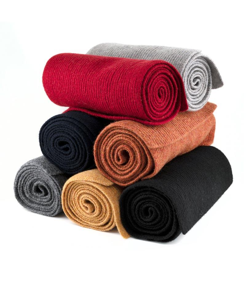 lambswool single rib scarves